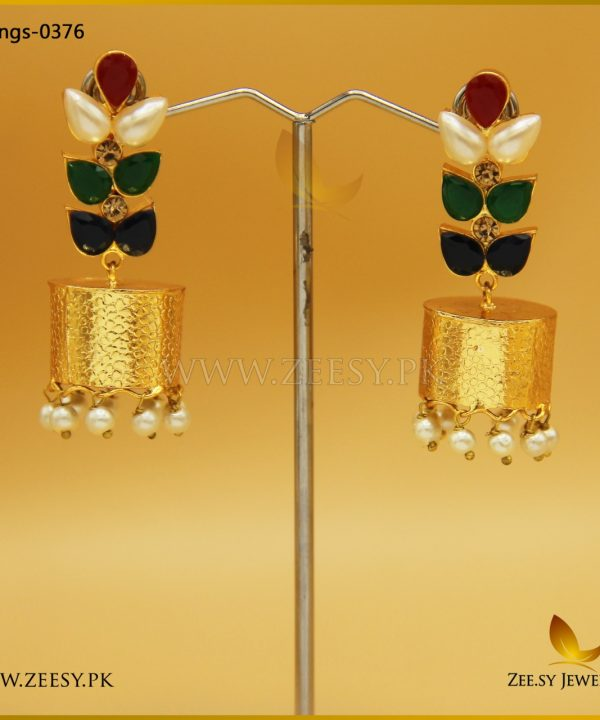 Multi Leaf Jhumki